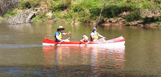 Canoeing on the Goulburn