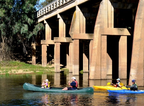 Canoeing at Daintons Bridge
