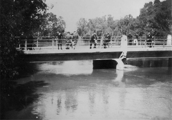 Goulburn River in flood 1939 - Shepparton