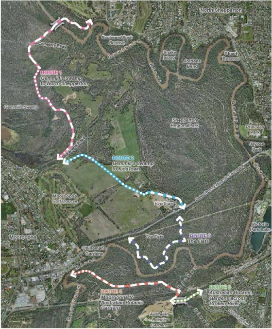 Five proposed new paths